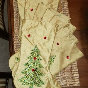 8 Christmas Stockings with sparkly embellishments